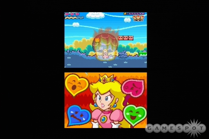 Talk about role reversal--it's up to Princess Peach to save Mario from Bowser's clutches in her first starring role.