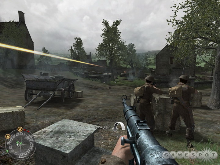 You should be able to take out this gunner with a good shot from your L-E or Gewehlt.
