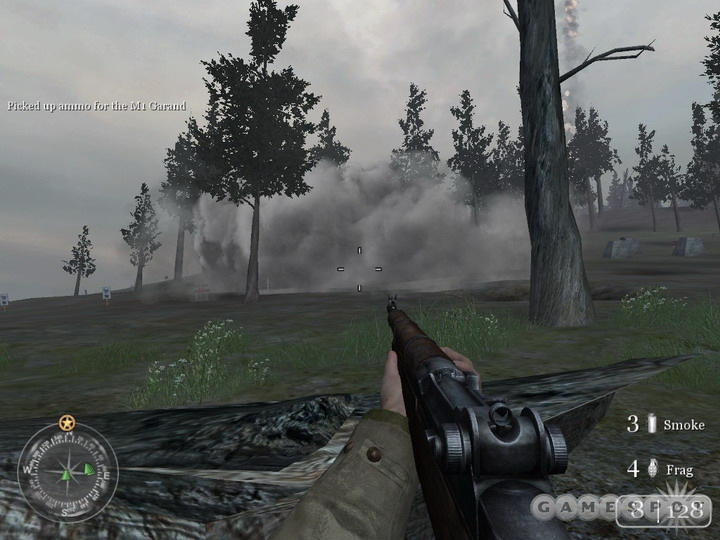 Wait for smoke to arrive before heading in front of machineguns.