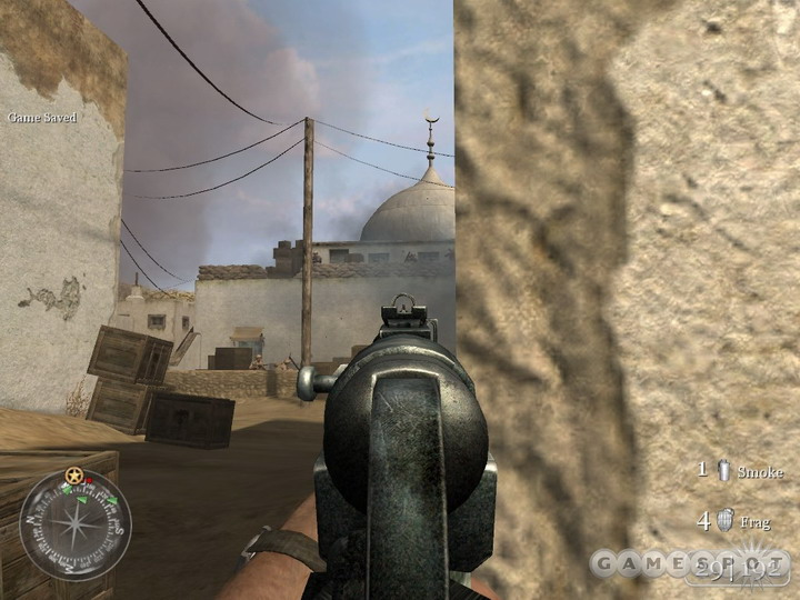 The MP40 will be your constant friend throughout the singleplayer portion of COD2.