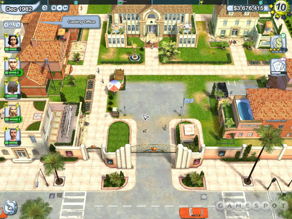 A slick graphics engine lets you go from fly-on-the-wall view to bird-in-the-sky view without batting an eye.