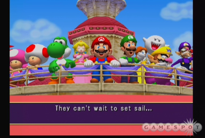 Mario and company hit the high seas.