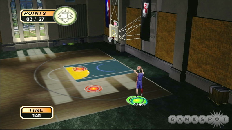 NBA 2K6 for the Xbox 360 offers the same control schemes as other versions of the game.