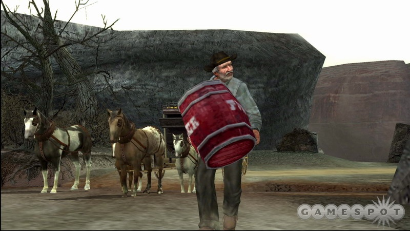 Like a cowboy in New York City, Gun for the Xbox 360 just doesn't look right.