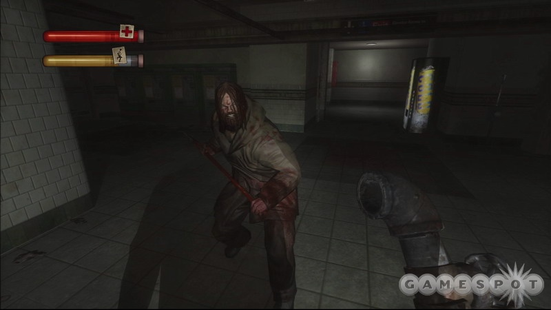 It's hard to get a good look at what you're up against in Condemned, but you'll see enough to know this is one great-looking game.