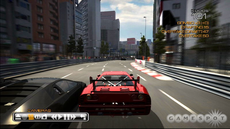 Motion blur effects and solid frame rate contributes to the game's thrilling sense of speed.