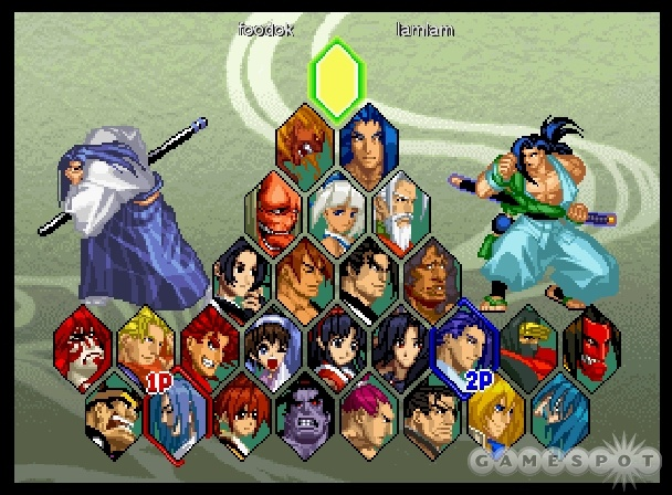 Look at all those characters to choose from. And look at how few of them could accurately be described as samurai!