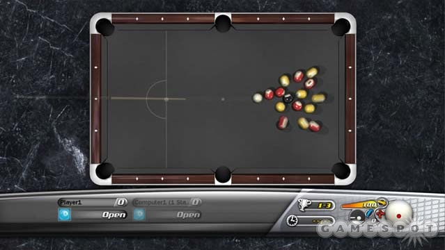 The shot interface affords you a great deal of control over the cue ball.