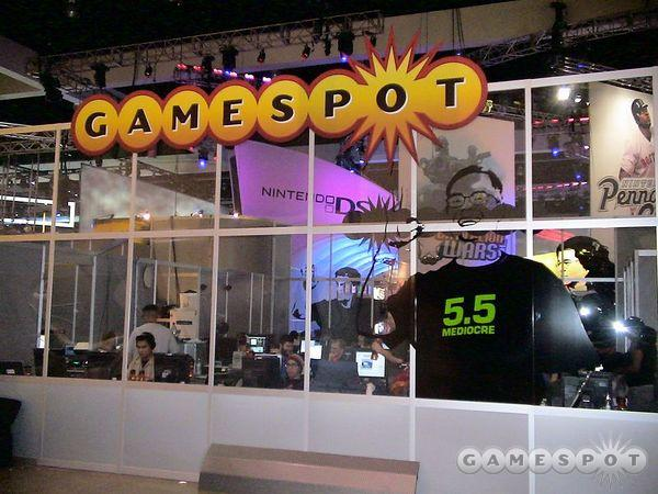 The editor pen at the GameSpot booth was not unlike a zoo exhibit.
