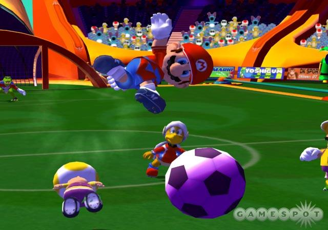 Mario can bend it like Beckham.