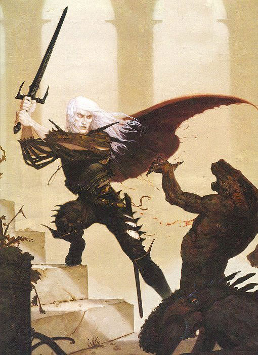 The Eternal Champion in the War on Chaos is based on Stormbringer, one of my favorite books.