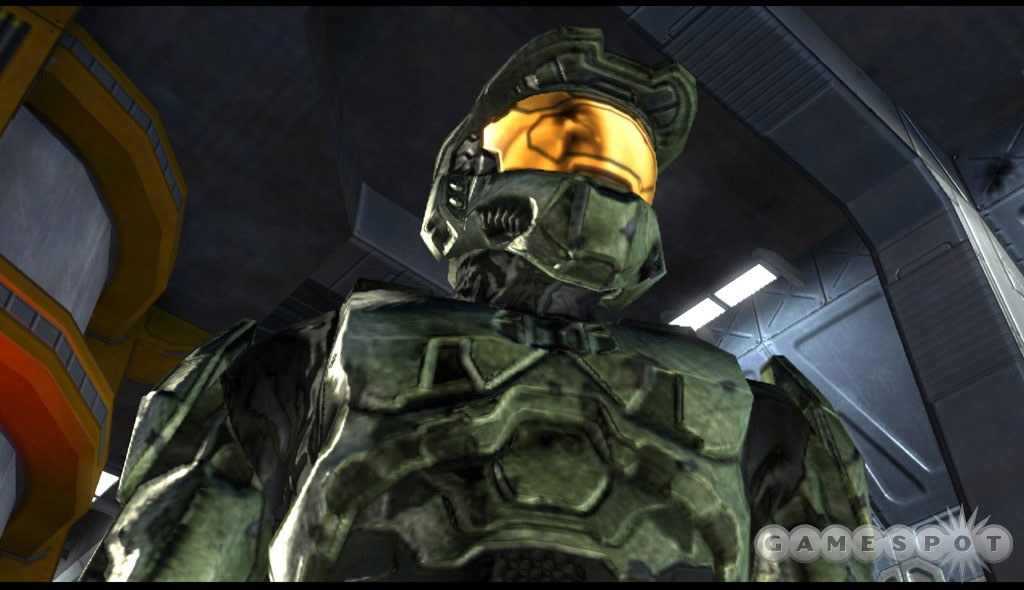 The Master Chief is gangster as hell, but his chest plate is all grungy-lookin.'