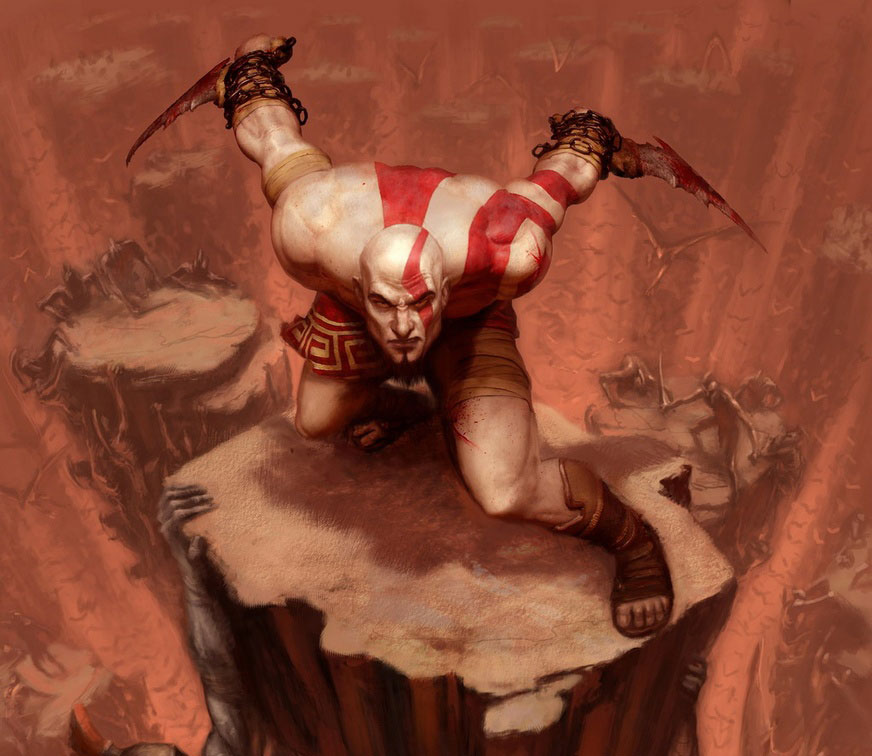 Oh, Kratos. I'll take you over some foofy RPG hero any day.