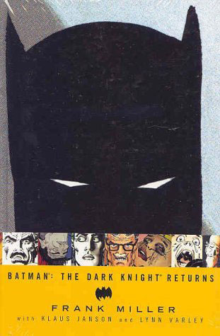 Comics thrive on reimaginings of popular characters, such as Frank Miller's Batman. %>