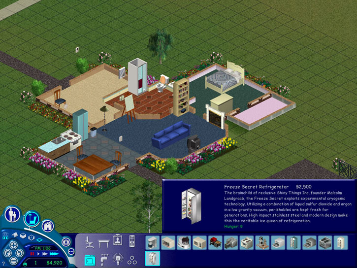 The stainless steel refrigerator was the Holy Grail of Sims life.