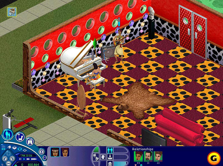 The Sims: Livin' Large introduced new vital floor patterns.