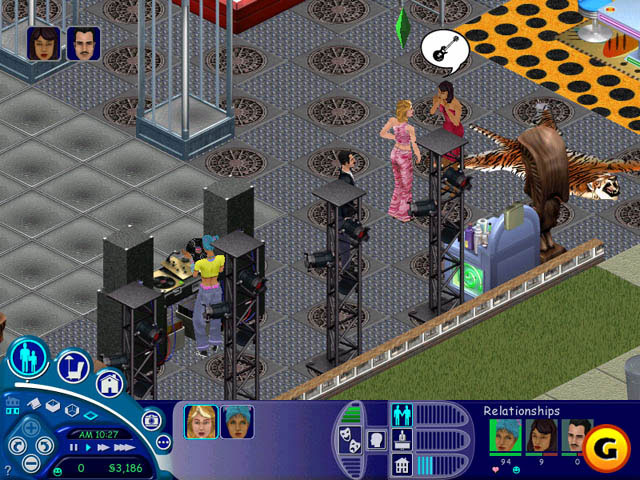 The Sims: House Party made being social even easier, with cages for people to dance in.