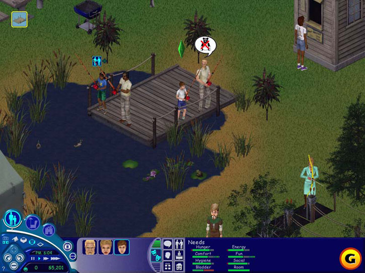 The Sims: Vacation: Just because you're on vacation doesn't mean you get a break from managing needs.