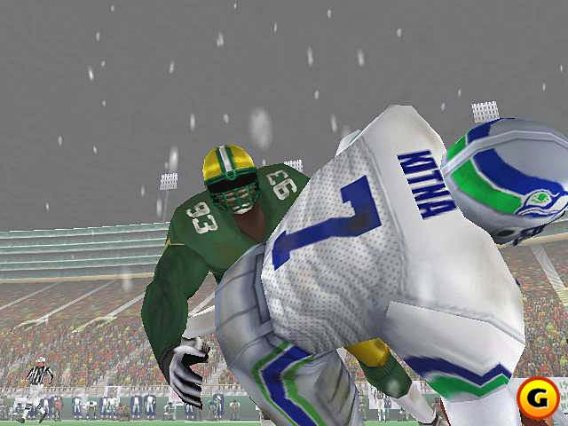 Better visuals and career play made NFL 2K1 an improvement.