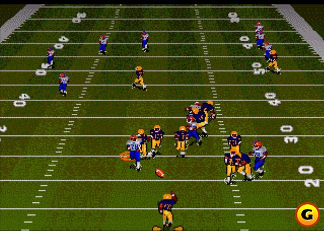 Bill Walsh College Football for the Genesis in 1993.