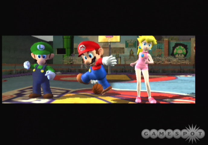 In NBA Street V3, Mario and his pals made their first appearance in an EA Sports game. It wouldn't be their last.