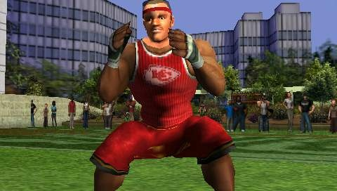 NFL Street Unleashed 2 brings hard-hitting, wall-climbing gameplay combined with a hip-hop vibe.