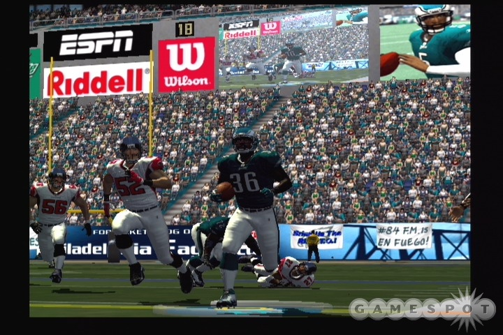 Brian Westbrook found outside running room all day long in the Eagles' win over Atlanta.