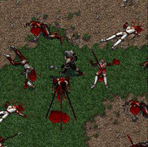 The bloody aftermath of a glorious battle.