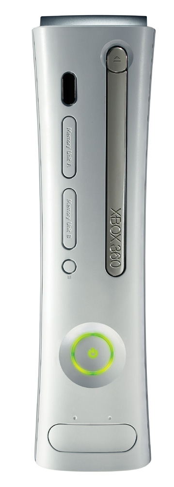 The Xbox 360 can stand on its side as well.