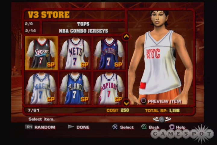 So I'll have more choices in jerseys and stuff when I play NBA Street. Is that enough to care?