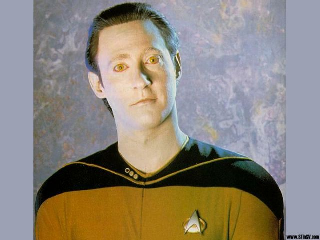 Lt. Commander Data is a prime example of the 'uncanny valley.'