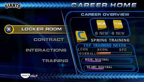Career mode lets you manage all aspects of your player's career, including locker room communication, front office interactions, and training hours.
