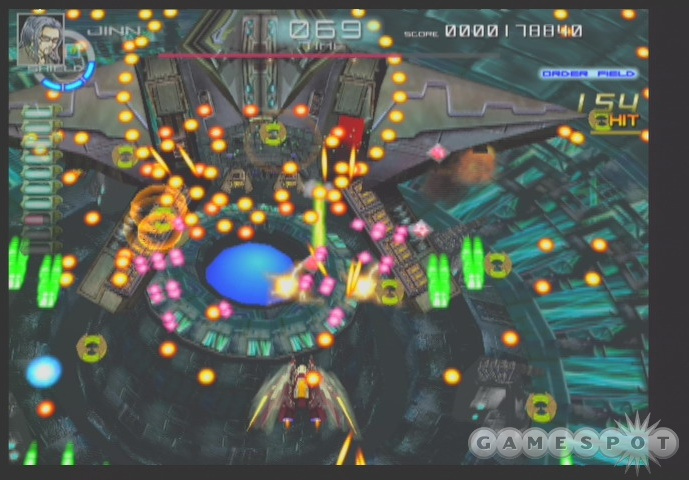 Dodge deadly spirals of bullets while attempting to shoot down big, weird alien ships in Chaos Field.