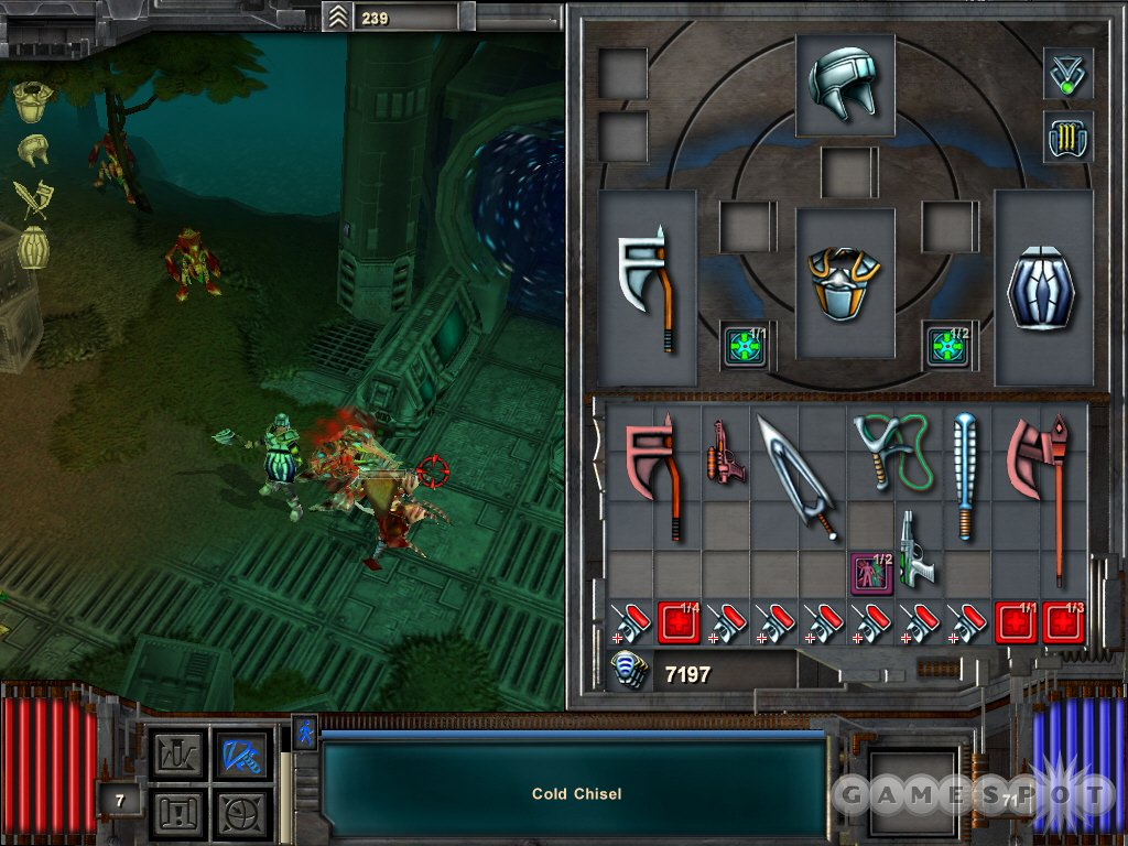In Space Hack, what you do is kill a whole bunch of alien bugs and things with melee weapons or guns. For some reason you can use bows, too.