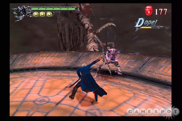 The optional new continue system and the easier default difficulty setting are well suited to those who shied away from the original version of DMC3, or those who just couldn't hack it.
