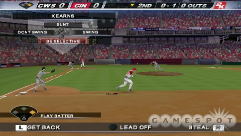 If you want to, you can control the base runner while the CPU controls the hitter.