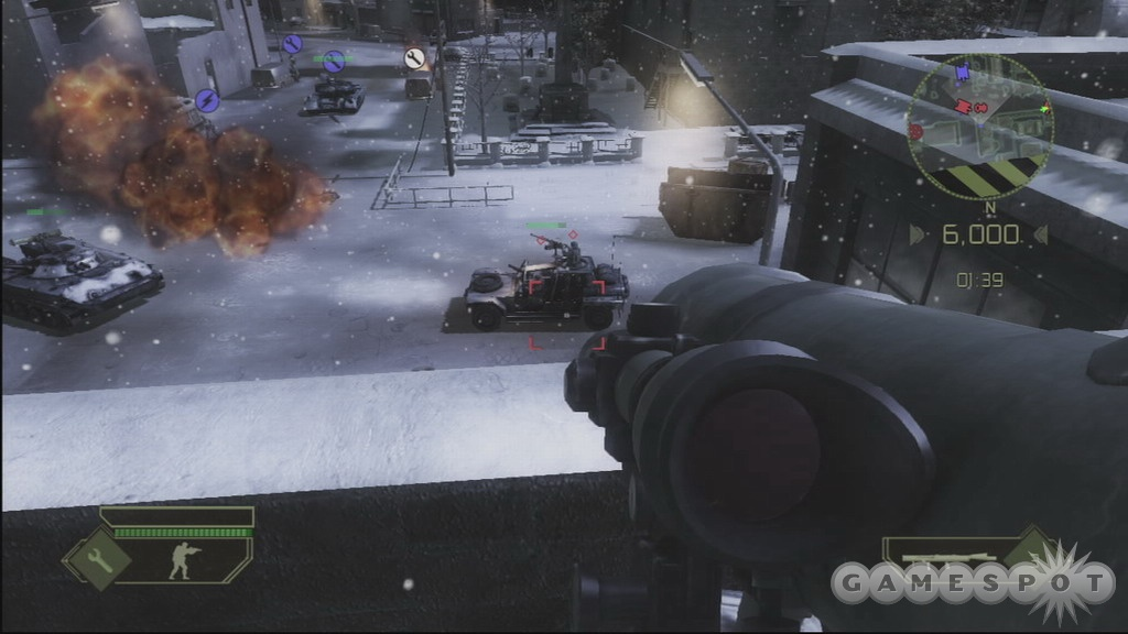 Infantry and vehicles combine for some serious mayhem in both single- and multiplayer.