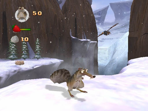 Help Scrat hoard thousands and thousands of nuts by jumping around a variety of environments in Ice Age 2.