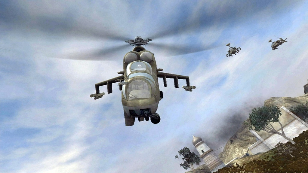 Attack helicopters can dominate the landscape when flown by skilled pilots.