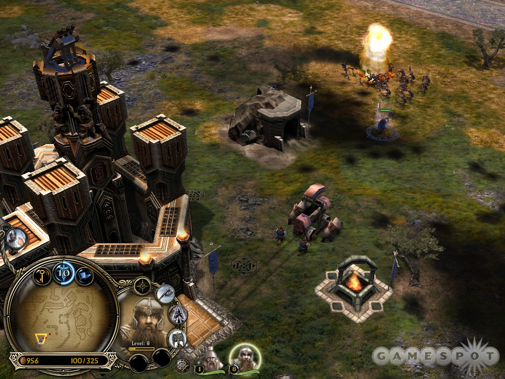 The Dwarves possess several unique units: an assortment of siege weaponry that can tear through enemy structures.