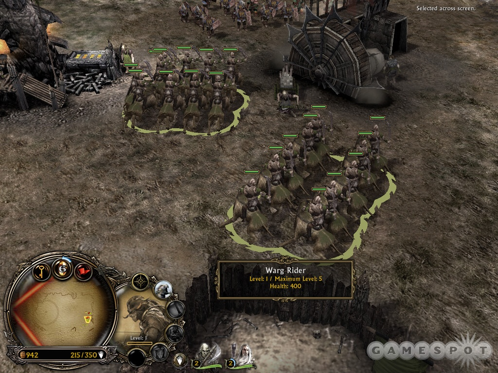 Harass enemy buildings and units with fast Warg Riders.