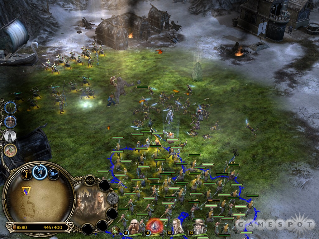 Drop Elven Wood to help eliminate the enemies occupying the Elven settlement.