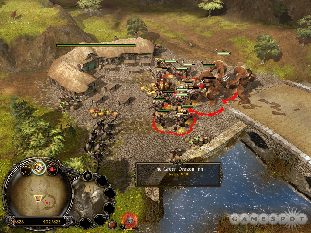 Find the Green Dragon Inn just northwest of your base. Destroy it to complete the bonus objective.