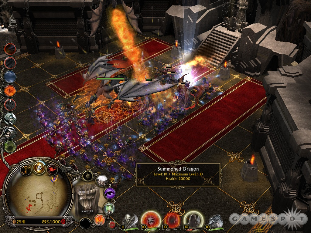 An effective way to wipe out King Dain's army: Summon Dragon plus Dragon Strike plus Arrow Volley plus Tainted Land.