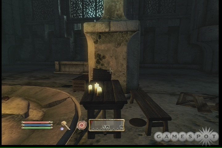 Jumping atop this pillar here will let you fire at Umbra without her touching you.