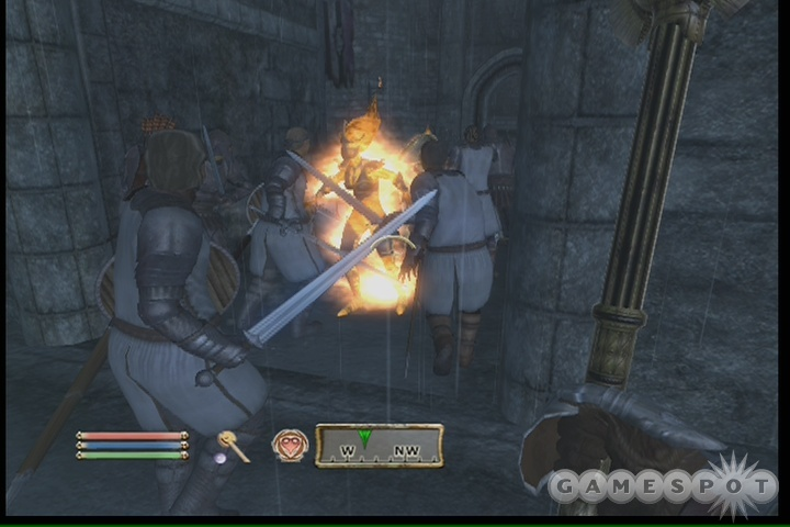 You'll have plenty of help in the battle for Castle Kvatch.