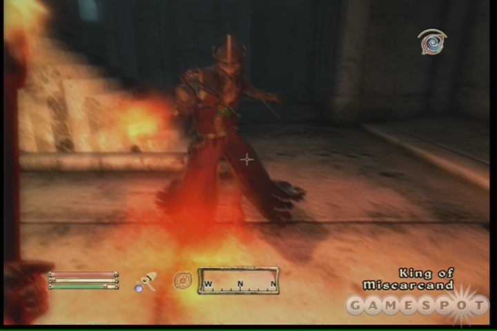 Try hitting the King with fire magical or fire-enchanted weapons for maximum damage.