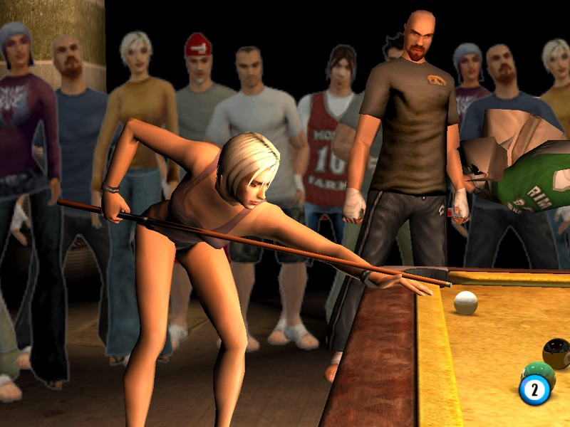 Nothing says 'excellent pool game' quite like blocky female character models in short shorts.
