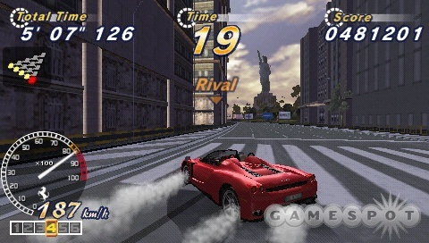 The tracks and cars all look beautiful, and the game offers a nice sense of speed to boot.