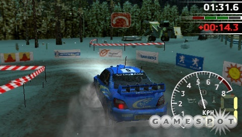 Driving WRC's various licensed rally cars can be quite fun, provided you steer with the d-pad and not the overly-sensitive analog stick.